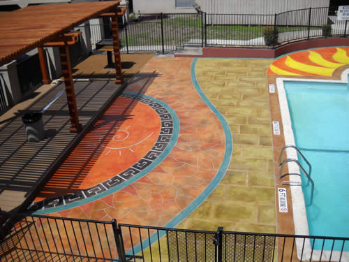 Concrete resurfacing pool deck San Antonio, TX